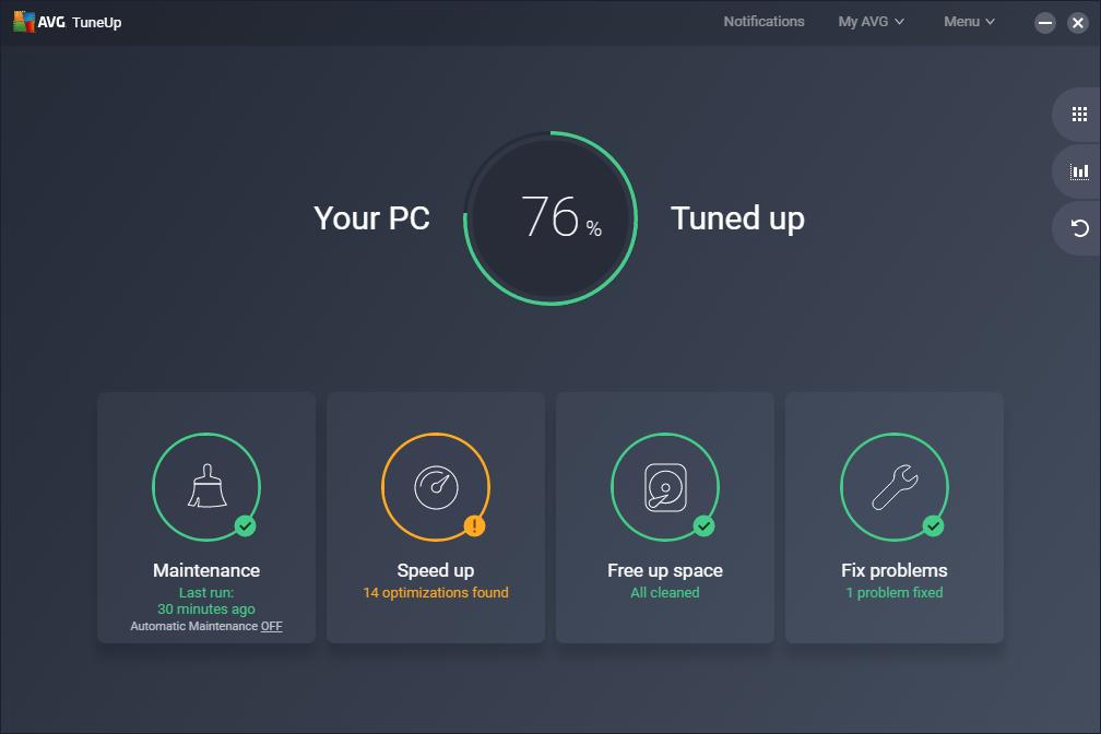 تحديث برنامج صيانة الجهاز وتنظيفه وتسريع أداء الويندوز : AVG TuneUp 2019